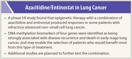Epigenetic Therapy Shows Positive Results in Late-stage Lung