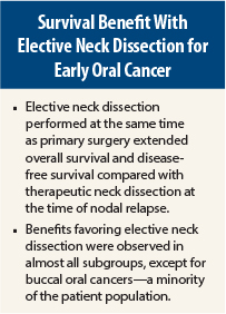 Elective Neck Dissection Beats Watch and Wait Approach in Early ...