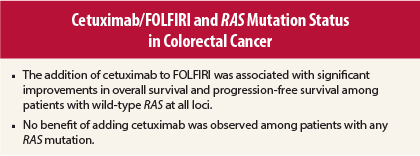 Adding Cetuximab To First Line Folfiri Does Not Benefit Metastatic Colorectal Cancer Patients With Ras Mutations The Asco Post