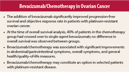 Aurelia Trial Adding Bevacizumab To Chemotherapy Improves Outcomes In Platinum Resistant Recurrent Ovarian Cancer The Asco Post